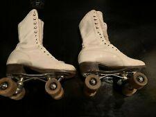 Vintage Betty Lytle Hyde White Roller Skates Chicago Custom White Size 4