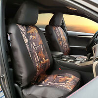 Camouflage Black Waterproof Canvas Seat Covers For ISUZU DMAX Dual Cab 2007-2019