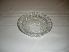 Clear Glass Small Candy Dish Bowl Floral Pattern