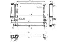 NRF Radiador, refrigeración del motor BMW Serie 5 53852