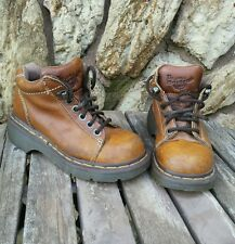 MENS? DOC Dr MARTENS BROWN LEATHER WORK, TRAIL HIKING BOOTS sz 4 MADE IN ENGLAND