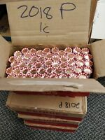 2018 P & D BU ORIGINAL BANK WRAPPED LINCOLN CENT PENNY ROLL  - NEW - 2 ROLLS
