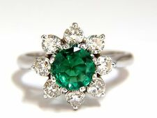 1.72ct natural vivid bright green emerald diamonds ring 14kt