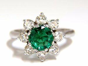 1.72ct natural vivid bright green emerald diamonds ring 14kt+