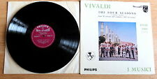 VIVALDI - THE FOUR SEASONS - I MUSICI - FELIX AYO - UK LP - PHILIPS SABL 117