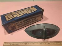 Vintage GREEN Original Caddie-Eye Headlight Hood Visor Harley Chevy GM Accessory