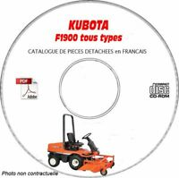 F1900 - Catalogue Pieces CDROM KUBOTA FR Expédition - --, Support - CD-ROM - DV