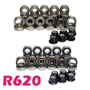 Bearing Set for TAMIYA R620 Scania 32 Bearings 56323 RUBBER/METAL seal WHEEL NUT
