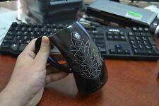 "Carved Leaf Buffalo Horn Game Of Throne Medieval Drinking Ale Cup Mug 5"" #Ya"