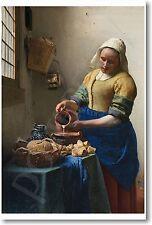 The Milkmaid by Dutch Master Artist Johannes Vermeer 1658 - NEW Art Print POSTER