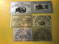 Southeast Kansas Old Time Engine & Tractor Show Metal Plaques Lot 6