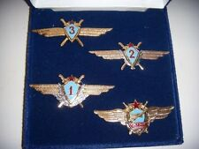 Soviet / Russian Pilot Wing NEW Mint Conditon Set Student Solo to Combat Command