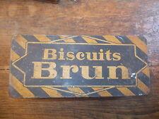 Boite métallique ancienne biscuits brun