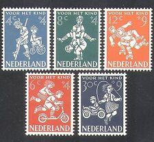 Países Bajos 1958 Bienestar Infantil/Juegos Para Niños/Bicicleta/Coche/Scooter 5 V Set (n37985)
