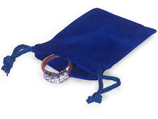 100 ROYAL 2x2 Jewelry Pouches Velour Velvet Gift Bags
