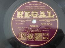 Billy Reid London Piano Accordeon Band Paradise / Fleurette Regal 604 VG++