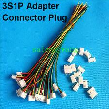 10 PCS 3S1P RC lipo battery balance charger plug 4 Pin JST Adapter Connector