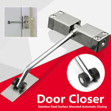 Auto Door Closer 20-40KG Adjustable Stainless Steel Surface Mounted Closing
