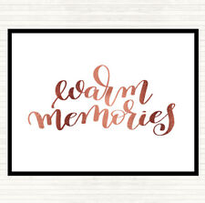 Rose Gold Memories Quote Dinner Table Placemat