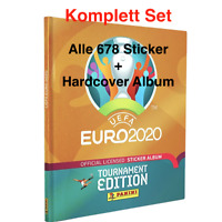 Panini EURO EM 2020 Tournament Edition Komplett Set alle 678 Sticker + Hardcover
