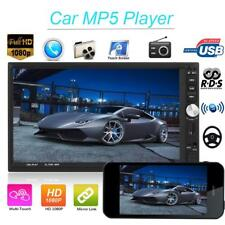 7in Bluetooth 2 DIN In-dash Car Stereo Radio MP5 Player Dual Android Remote AUX