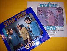 Vintage 1978 Star Trek Star Date Calendar Mib With Spock Poster Nos Mint Unused