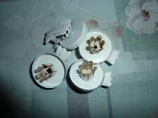 Weihnachtsbaum Kerzenhalter mit Klemmbefestigung 6 Stück in Weiß.