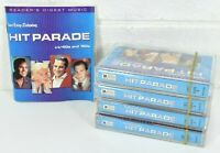 Readers Digest  Hit Parade 40s and 50s Lot of 4 Cassette Tapes Vol. 1-4 w/Book