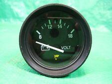 """NOS Marine 2"""" Volt Gauge Battery Charge Teleflex Black Face 18130"""