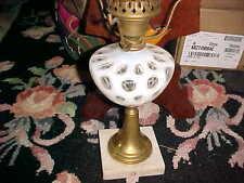 Antique Victorian Opalescent Coin Dot Glass Oil Lamp STUNNING   330