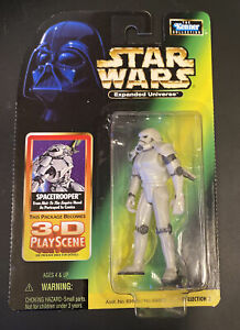 Star Wars Spacetrooper Power Of The Force Expanded Univ Green Card In Case MOC