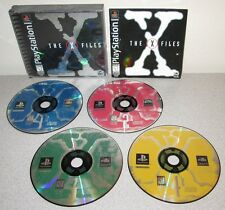 THE X FILES PlayStation PS1 Complete 4 Discs w/Manual Paranormal Mulder Scully