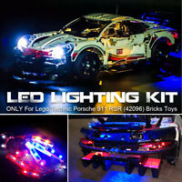 🔥LED Light ONLY Lighting Kit For Lego 42096 Technic Porsche 911 RSR Bricks   ∏