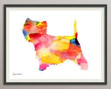 west-highland-white-terrier Hund 20x25 Kunstdruck Aquarell Poster Art Print