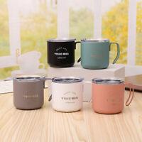 Stainless Steel Coffee Mug Water Bottle Tea Cup Travel Tumbler with Handle & Lid