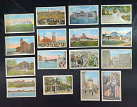 Chicago Illinois Postcards LOT (16) 1920s City Pier Cars People Depo  🎴🎴🎴