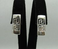 Sterling Silver Earrings Solid 925 Meanders French Clip Handmade New Empress