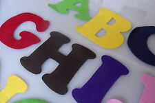 Felt Alphabet Letters - Multi Color 7.5 cm Craft, Kids Art, Classroom Activities