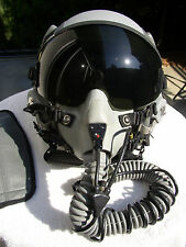 GENTEX HGU-55/P F-15 F-16 FLIGHT HELMET + MBU-12P OXYGEN MASK, BAG & GLOVES MINT