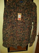 Men's Large Cotton Traders Courdroy floral Printed Shirt New winter  warm