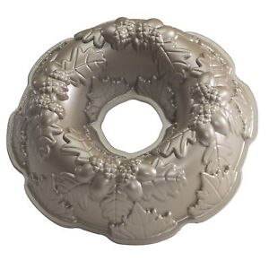 Nordic Ware Platinum Collection Autumn Wreath Bundt Pan ~ NEW & Free US Shipping