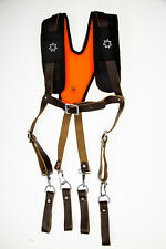 Leather Work Suspension System Suspender With Foam Back Padding for Comfort