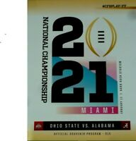 2021 COLLEGE FOOTBALL NATIONAL CHAMPIONSHIP PROGRAM CFP OHIO STATE ALABAMA CHAMP