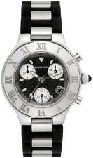 CARTIER Must 21 Chronoscaph Quartz Watch W10125U2 NEW Battery