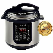 MEGACHEF 8 QUART DIGITAL PRESSURE COOKER MACHINE STAINLESS STEEL 13 PROGRAMS NEW