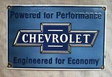 """Vintage Chevrolet Porcelain Enamel Sign 17""""x11"""""""