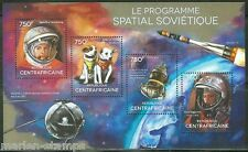 CENTRAL AFRICA  2014  SOVIET SPACE PROGRAM BELKA & STRIKA GAGARIN SHEET  MINT NH