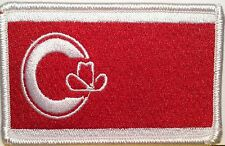 Calgary CANADA Flag Patch With VELCRO® Brand Fastener Military White Border #4