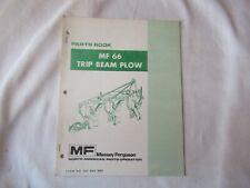 1973 Massey Ferguson Mf 66 Mf66 Plow Parts Book Catalog Manual