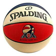 "New Spalding 74-248E ABA Official Game Full Size 29.5"" Indoor Basketball Ball"